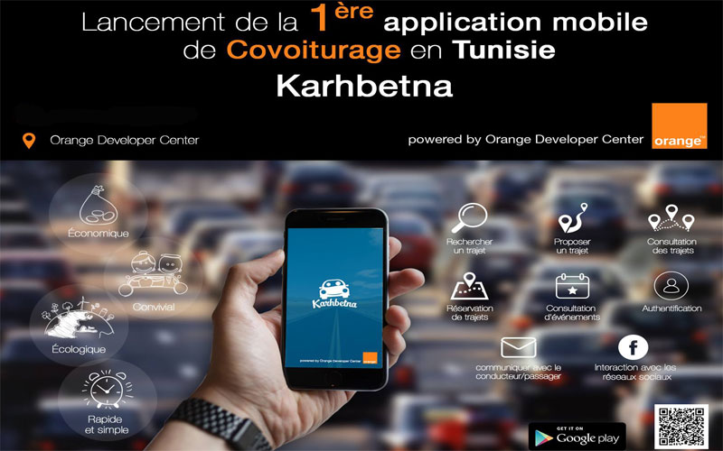 application mobile covoiturage tunisie