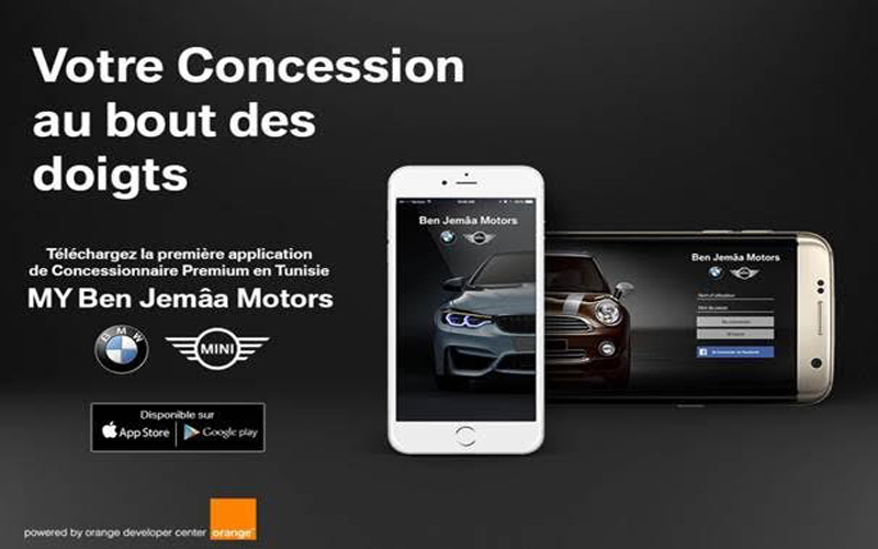 application mobile concessionnaire auto tunisie